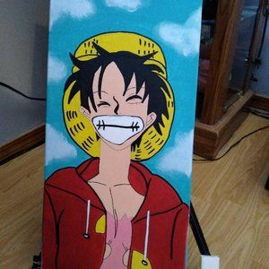 """10"""" x 20"""" Anime One Piece Painting on Canvas"""